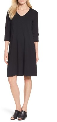 Women's Eileen Fisher Stretch Organic Cotton Jersey Shift Dress $138 thestylecure.com