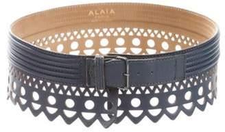Alaà ̄a Laser Cut Leather Belt Alaà ̄a Laser Cut Leather Belt