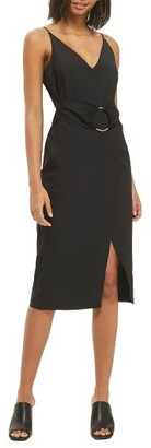Women's Topshop Ring Belt Slipdress $80 thestylecure.com