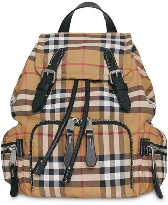 Burberry The Small Crossbody Rucksack in Vintage Check