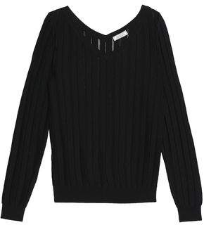Nina Ricci Open-Knit Wool And Silk-Blend Sweater