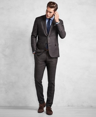 Brooks Brothers Golden Fleece Brown Windowpane Suit