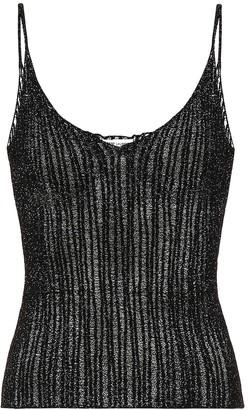 Saint Laurent Metallic knit camisole