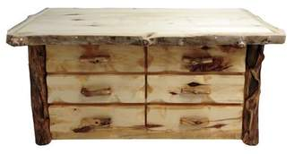 Mountain Woods Furniture Aspen Grizzly 6 Drawer Double Dresser Mountain Woods Furniture