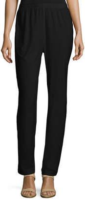 Caroline Rose Stretch-Knit Slim Pants, Petite