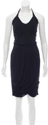 Yigal Azrouel Halter Knee-Length Dress