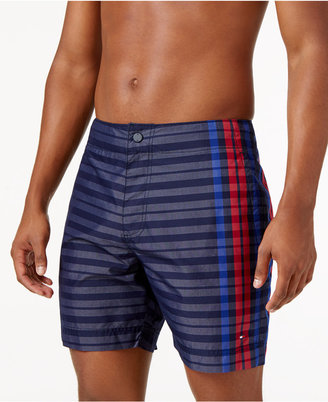 Tommy Hilfiger Men's Stripe and Plaid Board Shorts $69.50 thestylecure.com