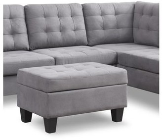 Nathaniel Home Chamption Sectional Ottoman, Grey
