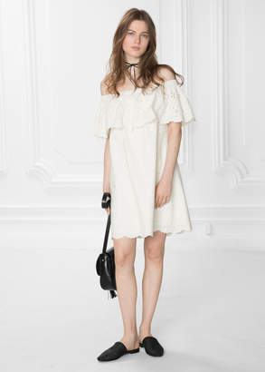 And other stories Embroidery Frill Dress