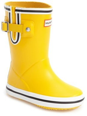 Toddler Hunter Buoy Stripe Rain Boot $60 thestylecure.com