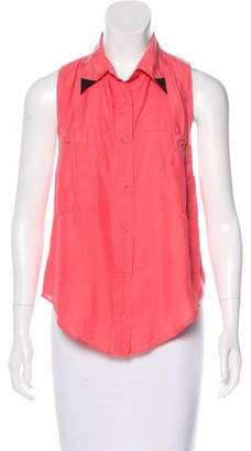Reformation Sleeveless Button-Up Top