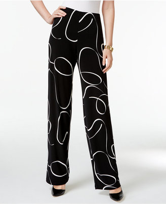 Alfani Printed Knit Wide-Leg Trousers, Only at Macy's $59.50 thestylecure.com