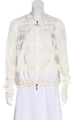 Moncler Rubina Collarless Jacket