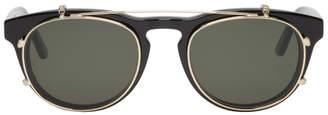 Han Kjobenhavn Black and Gold Timeless Clip-On Sunglasses