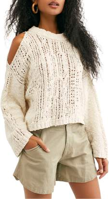 Free People Cold Ocean Cutout Shoulder Sweater