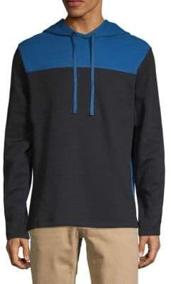 DKNY Colorblock Cotton Blend Hoodie