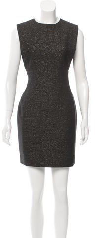 Saint Laurent Saint Laurent Metallic-Accented Wool Dress