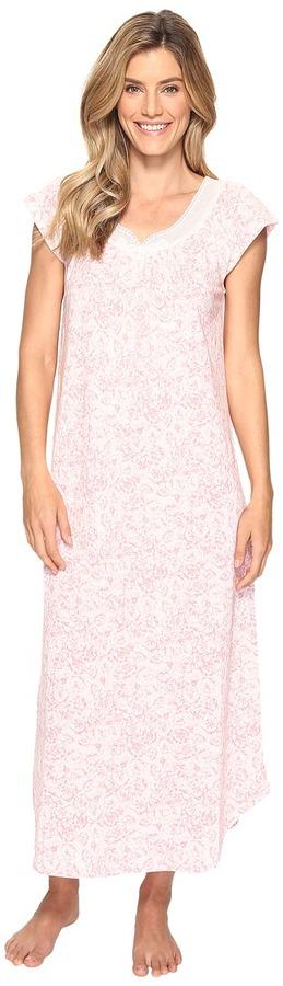 Carole HochmanCarole Hochman Floral Knit Long Gown