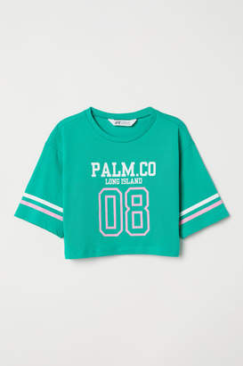 H&M Short Printed T-shirt - Green