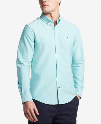 Tommy Hilfiger Men's Custom Fit New England Solid Oxford Shirt, Created for Macy's