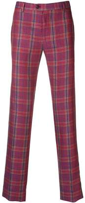 Etro tailored check trousers