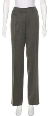 Akris Wool Wide-Leg Pants Grey Wool Wide-Leg Pants