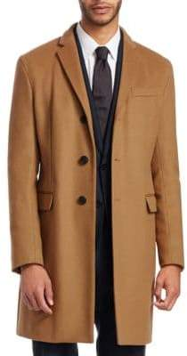 Emporio Armani Men's Cashmere Wool Top Coat - Camel - Size 52 (42) R