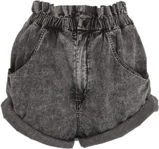 64624746af2 Grey High Waisted Denim Shorts - ShopStyle UK