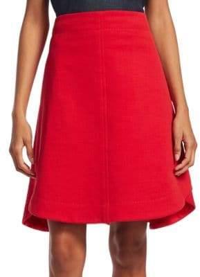 Carven Cotton-Blend Flare Skirt