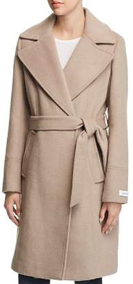 Calvin Klein Notched Collar Wrap Coat