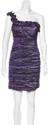 Alberto Makali One-Shoulder Ruched Dress