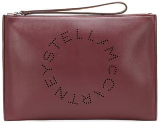Stella McCartney Stella Logo faux-leather pouch