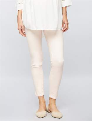 Luxe Essentials Denim Secret Fit Belly Sateen Skinny Ankle Maternity Pants
