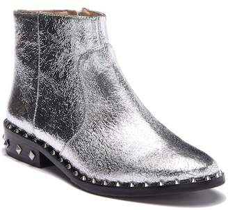 Schutz Rahel Cracked Leather Studded Ankle Boot