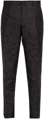 Dolce & Gabbana Tailored floral-jacquard silk trousers