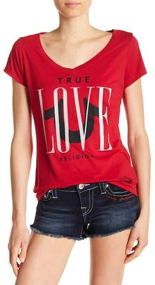 True Religion Love Rounded V-Neck Tee