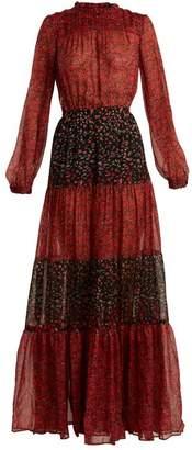 Raquel Diniz - Gloria Floral Print Panelled Dress - Womens - Red Print