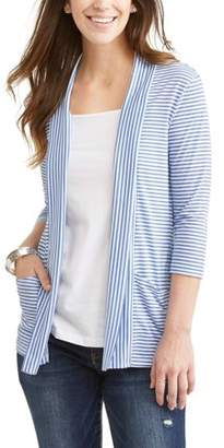 Generic Women's Essential Knit Flyaway Cardigan With Front Pockets