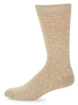 Saks Fifth Avenue Cotton Square Dot Socks