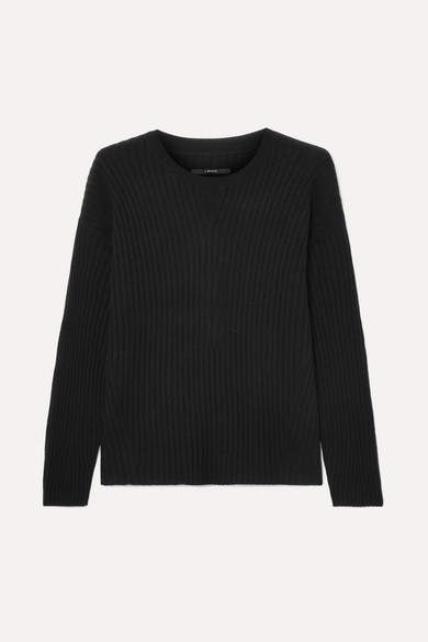 Tiffany Ribbed Cashmere Sweater - Black
