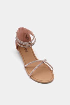 Ardene Jeweled Ankle Strap Sandals