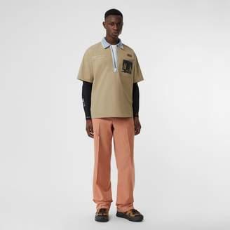 Burberry Short-sleeve Montage Print Cotton Shirt
