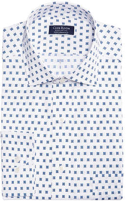 Club Room Men Classic/Regular Fit Performance Stretch Foulard Print Dress Shirt