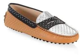 Tod's Gommini Micro-Stud Leather Driving Loafers