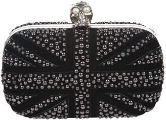 Alexander McQueen Skull Black Suede Handbags