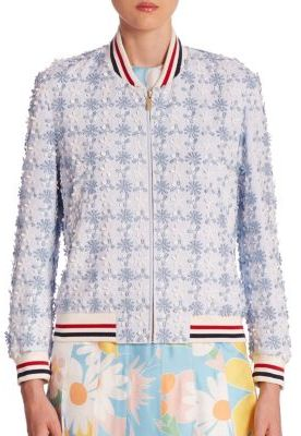 Thom Browne Daisy Bomber Jacket $2,890 thestylecure.com
