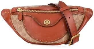 Coach zip front snap belt bag