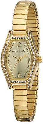 Laura Ashley Women's LA31010YG Analog Display Japanese Quartz Gold Watch $51.99 thestylecure.com