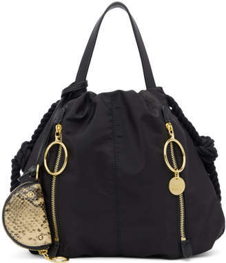 See by Chloe Black Zippered Tote