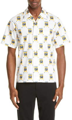 Kenzo Rice Bags Short Sleeve Button-Up Camp Shirt